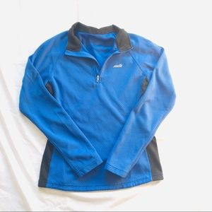 Blue and Blck Athletic Top